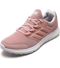 tenis running rosa-blanco adidas performance galaxy 4