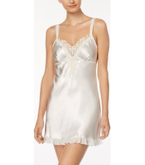 linea donatella satin midnight short chemise nightgown