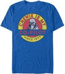 star wars men's classic chewie is my co-pilot short sleeve t-shirt