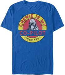 star wars men's classic chewie is my co-pilot short sleeve t-shirt