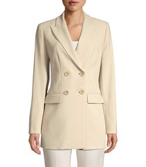elie tahari aster double breasted jacket - island sand - size 14