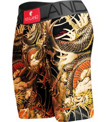 cueca boxer long leg kevland dragon tattoo amarelo. - amarelo/marrom - dafiti