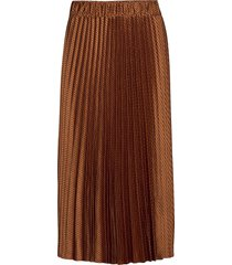 pleated midi length skirt knälång kjol brun scotch & soda