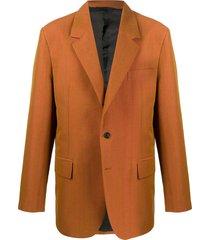 acne studios classic tailored blazer - orange