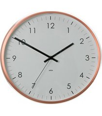 relógio de parede concept 31cm acobreado