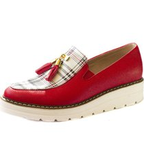 zapato rojo-escoces ballerinas