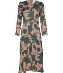 fraser midi dress knälång klänning multi/mönstrad second female