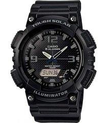 reloj casio aq-s810w-1a2 para caballero deportivo negro