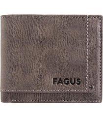billetera cuero gris fagus