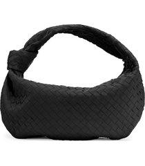 bottega veneta bv jodie leather hobo bag - black