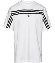 3stripe ss tee t-shirts short-sleeved vit adidas originals
