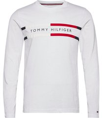 corp chest stripe ls tee t-shirts long-sleeved vit tommy hilfiger