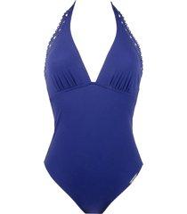 lise charmel badmode ajourage couture badpak blauw aba9815
