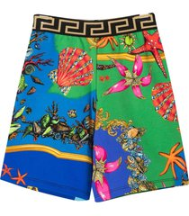 young versace multicolor shorts