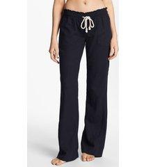 women's roxy 'oceanside' beach pants, size x-small - black
