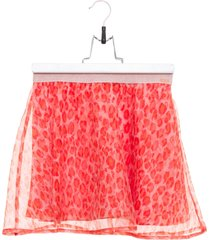 kenzo laopard organdie mini skirt