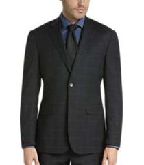 awearness kenneth cole charcoal plaid slim fit suit
