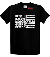 beer bacon motorcycles guns & freedom tee gun rights american