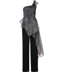 roland mouret sumter cocktail jumpsuit - black