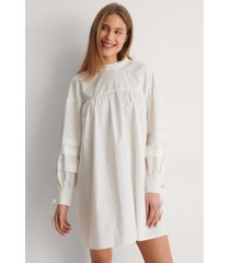 curated styles detail cotton dress - white
