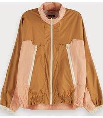 scotch & soda long sleeve zip up wind breaker jacket