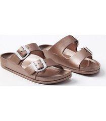 loft rubber buckle slide sandals