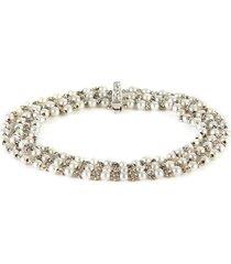 diamond pearl platinum bracelet