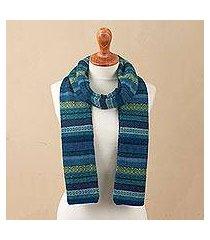 100% alpaca scarf, 'inca turquoise' (peru)