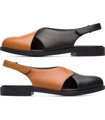 camper twins, sandali donna, marrone/nero, misura 42 (eu), k200600-001