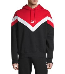 iconic chevron stretch-cotton hoodie