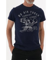 schott nyc us air force t-shirt - navy tsfight