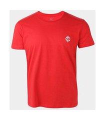 camiseta internacional escudo retrô mania masculina