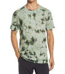 zella tie dye men's seamless t-shirt, size large in green ivy at nordstrom