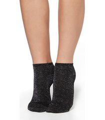 calzedonia short cotton socks woman black size tu