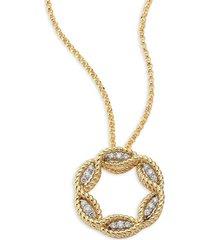 roberto coin women's barocco diamond & 18k yellow gold pendant necklace