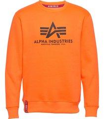 basic sweater sweat-shirt tröja orange alpha industries