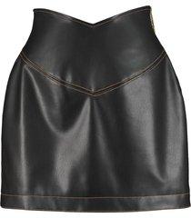 gcds faux leather mini skirt