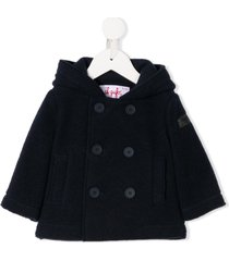 il gufo double breasted duffle coat - blue