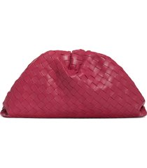 bottega veneta intreciato pouch leather clutch -