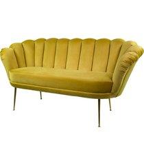 sofa żółta dwuosobowa tapicerowany lux-4