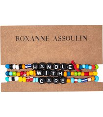 roxanne assoulin handle with care camp bracelets - red