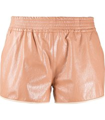drome flared style shorts - pink