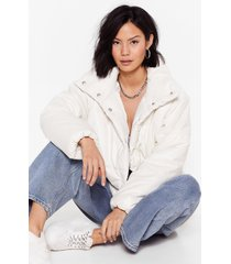 womens the answer to our layers padded jacket - white