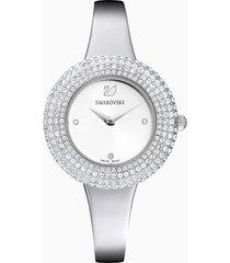 orologio crystal rose, bracciale di metallo, acciaio inossidabile