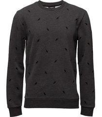 kashler htr french terry sweat-shirt trui grijs calvin klein