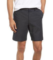 men's rvca back in hybrid shorts, size 34 - black