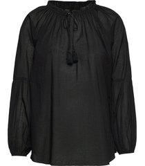 blouse blus långärmad svart ilse jacobsen
