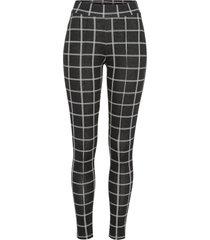 leggings a quadri (nero) - bodyflirt