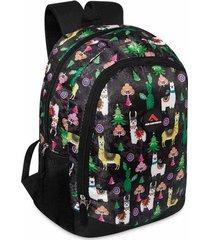mochila desert estampada negro para mujer croydon