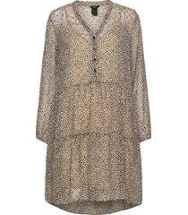 dress fanny knälång klänning beige lindex